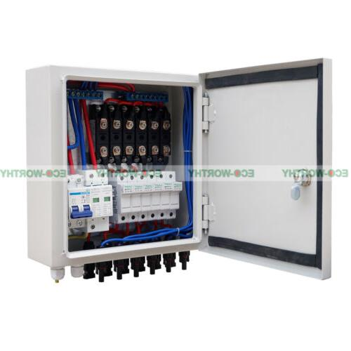 6 String Combiner Box 10A Circuit Breaker & Protection