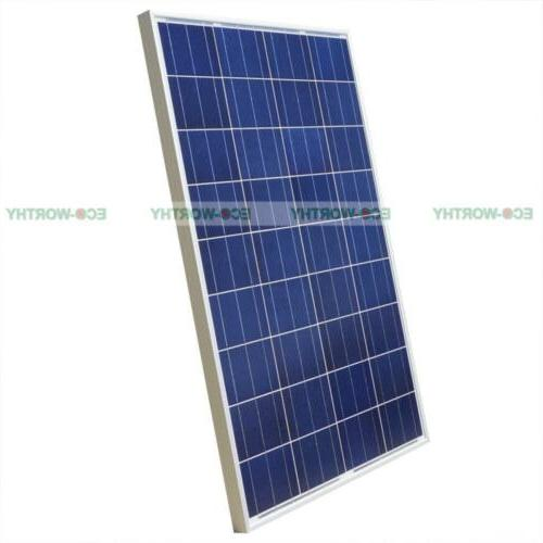 ECO 10W 100W 160W Mono Poly Solar For Battery Power Chagre
