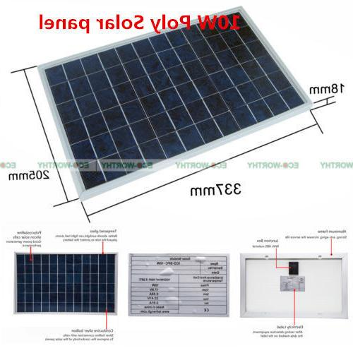 10W Panel for Solar Home Boat Battery