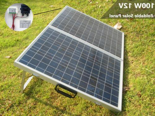 ECO-WORTHY 50W 100W 12V Portable Folding Solar Panel for Cam