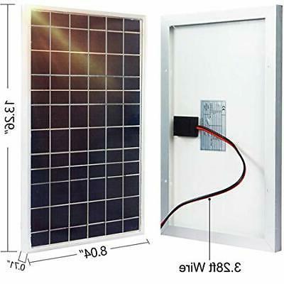 ECO-WORTHY 10W Solar 10 Pv Panel