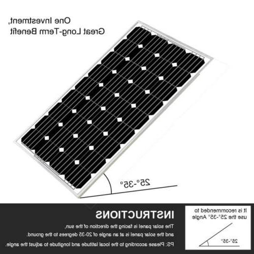 ECO 200W Solar battery for Home RV Caravan Battery