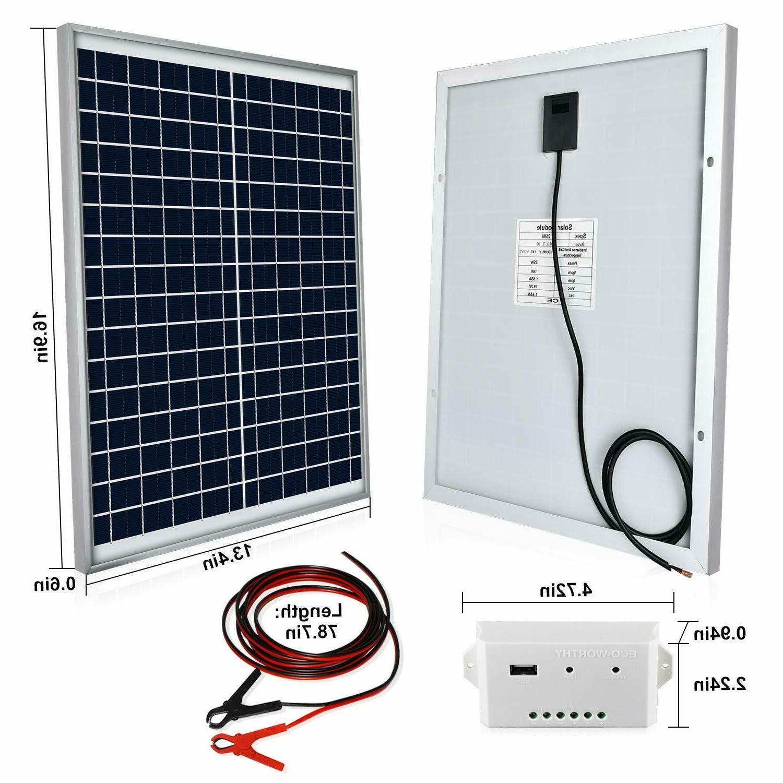 Eco-Worthy 20 Watts 12V Off Grid Solar Panel Kit: Waterproof