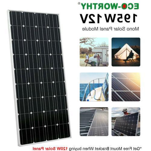 ECO-WORTHY 200W 120W 100W 100 Watt Monocrystalline Solar Pan