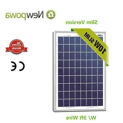 NewPowa High Quality 10W 12V Polycrystalline Solar Panel RV