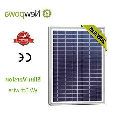 NewPowa High Quality 20W 12V Polycrystalline Solar Panel RV
