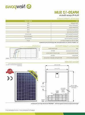 NewPowa 20W Watt Panel Off