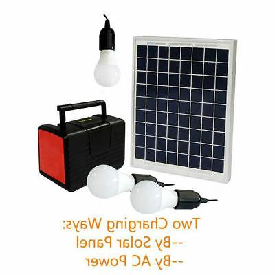 emergency solar generator lighting system kit 12v