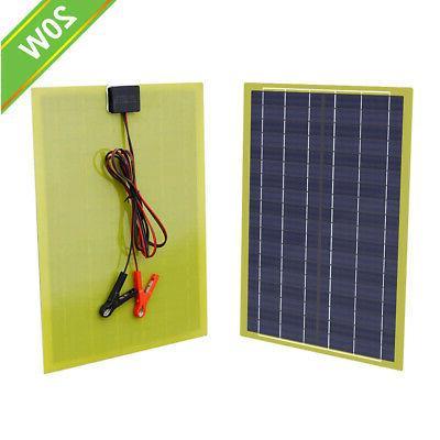 20Watt Epoxy Solar Panel Kit with 10A Controller for 12V Eme