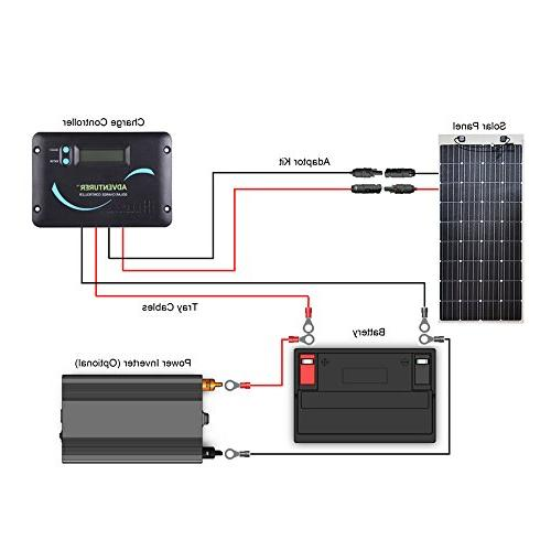 Renogy Volt Flexible Solar Panel Ultra Lightweight, Up to for RV, Boats, Uneven Surfaces