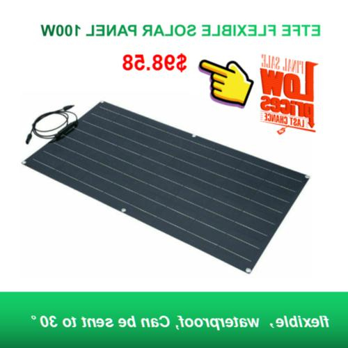 Flexible Solar Panel 100W ETFE Solar Charger For Boat