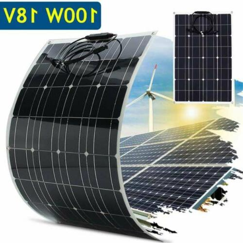 flexible solar panel 18v 100w solar charger