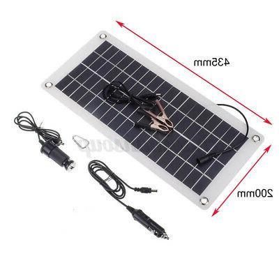 Flexible Solar Panel 12V Battery Kit