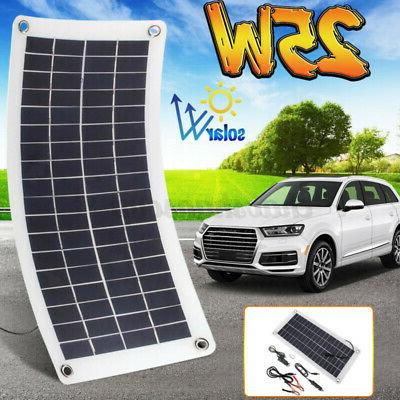flexible solar panel 25w 12v charge battery