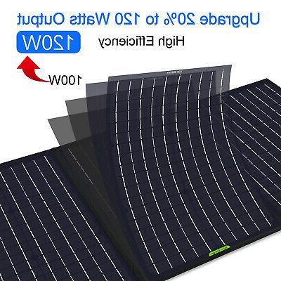 120W Watt 12V Foldable Portable Solar For Power