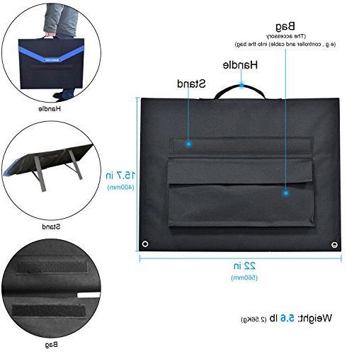 ACOPOWER 12V Watt Foldable Solar Panel Portable Solar 2x35W 5A Boats, 5V as Phone Charger