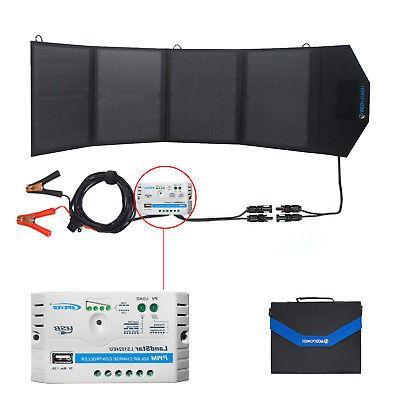 ACOPOWER 12V 50 Watt Foldable Solar Panel Kit Portable Solar