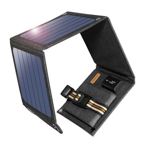 Suaoki 14W Solar Panel Solar Battery Charger Foldable 5V USB
