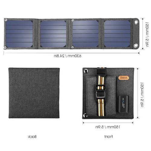 Suaoki Solar Panel Charger External Charger Bank