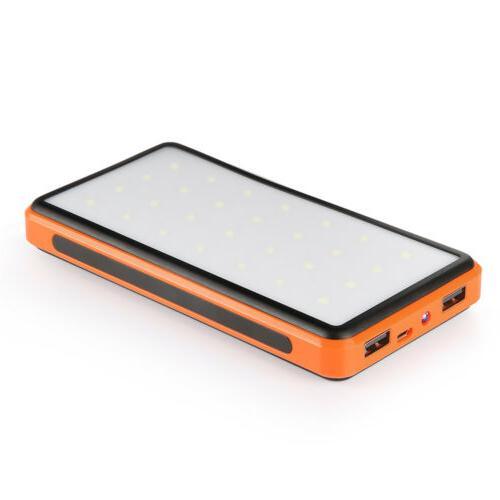 15000mAh Power Bank Portable Dual Battery light US