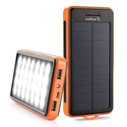 15000mAh Charger Bank Dual USB Battery LED US