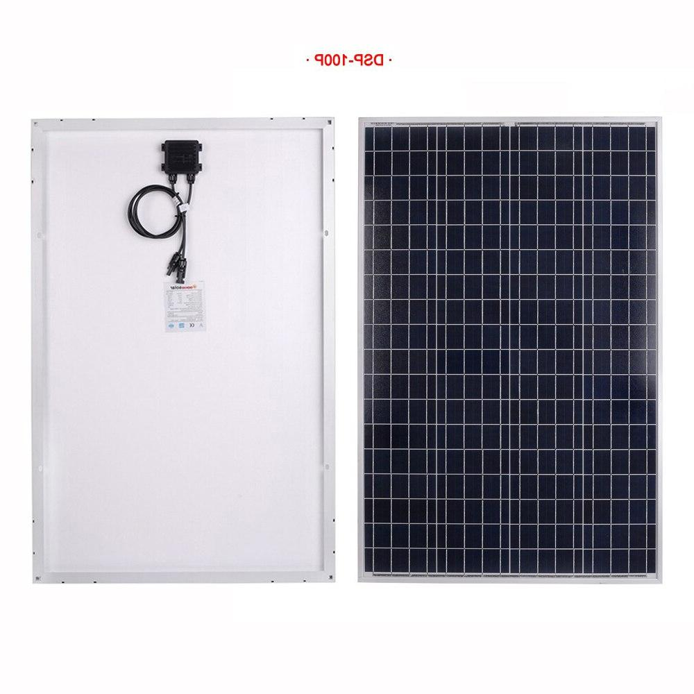 <font><b>Dokio</b></font> 18v/12v Polycrystalline High Efficiency Tempered Home <font><b>Solar</b></font> <font><b>Panel</b></font> 20w 30w