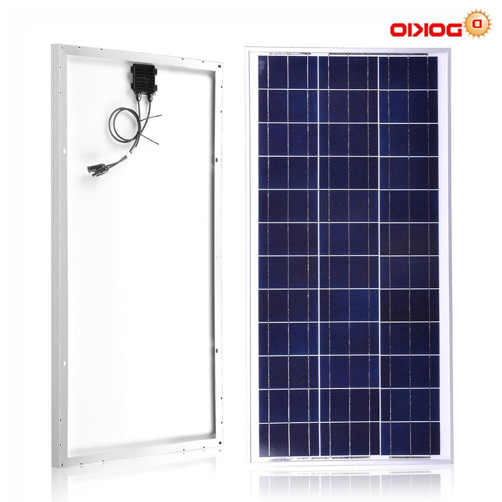 <font><b>Dokio</b></font> 10 to 18v/12v Polycrystalline High Efficiency Glass Home 20w
