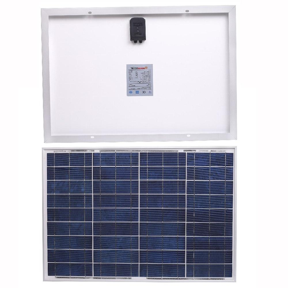 <font><b>Dokio</b></font> 10 18v/12v Polycrystalline <font><b>Solar</b></font> High Efficiency Home <font><b>Solar</b></font> 20w