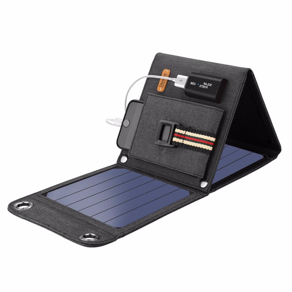 <font><b>Suaoki</b></font> <font><b>Solar</b></font> Cells 2.1A Portable Smartphones Laptop Tablets