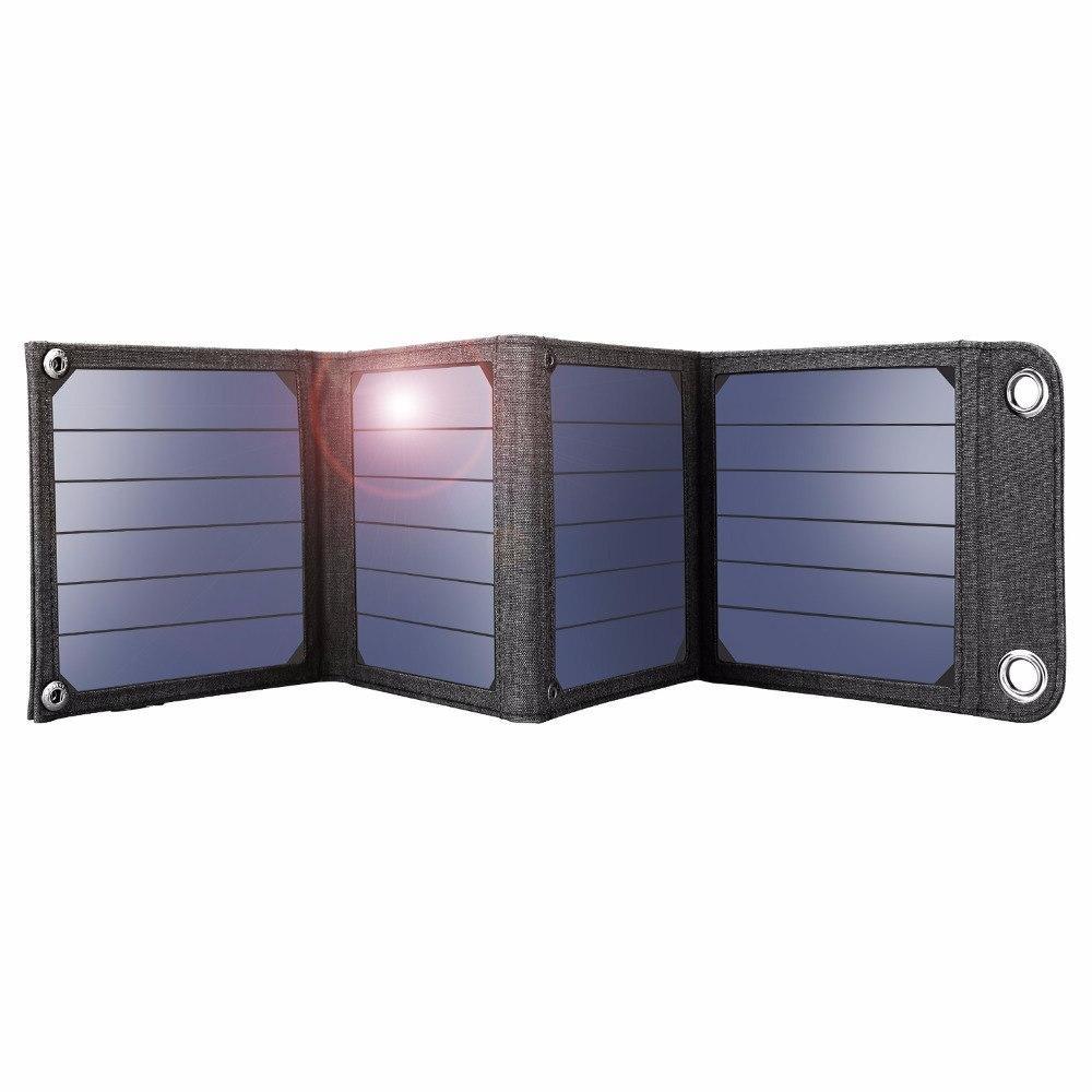 <font><b>Suaoki</b></font> 14W <font><b>Solar</b></font> 2.1A Output Portable <font><b>Solar</b></font> Smartphones Outdoor