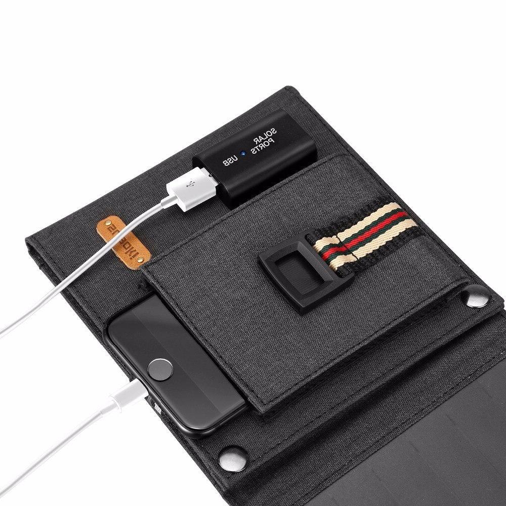 <font><b>Suaoki</b></font> 14W Sun Light <font><b>Solar</b></font> 2.1A USB Portable Smartphones Laptop