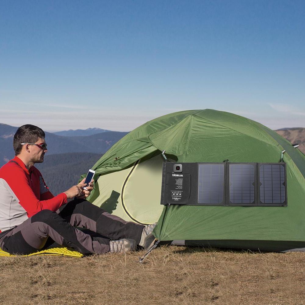<font><b>Suaoki</b></font> <font><b>Panel</b></font> Charger Battery Sun Dual USB for X 8 Huawei