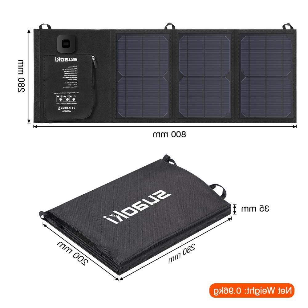 <font><b>Suaoki</b></font> Charger Battery Foldable Sun LED Dual 5V/4A Output for X Huawei