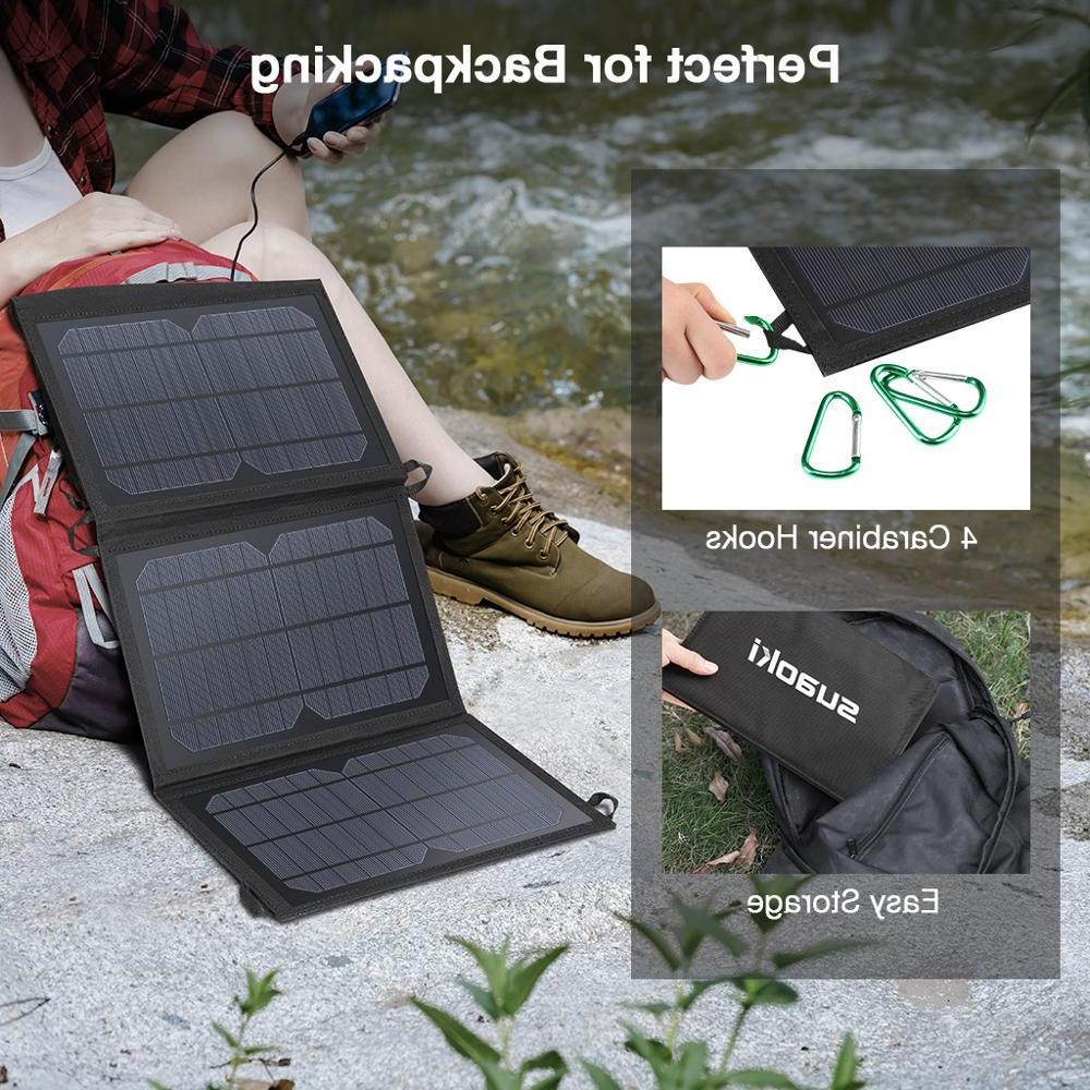 <font><b>Suaoki</b></font> Charger Battery Sun Energy LED Dual USB for Huawei