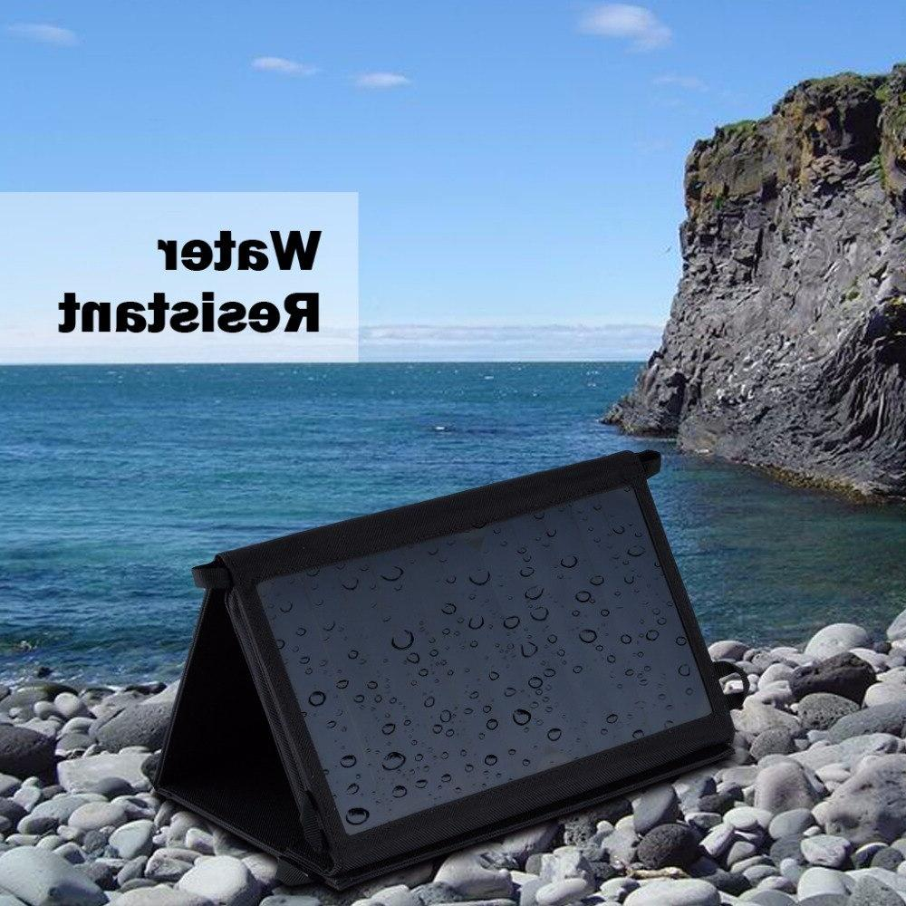 <font><b>Suaoki</b></font> 25W Portable Folding Foldable Dual 5V/2.1A <font><b>Panel</b></font> for