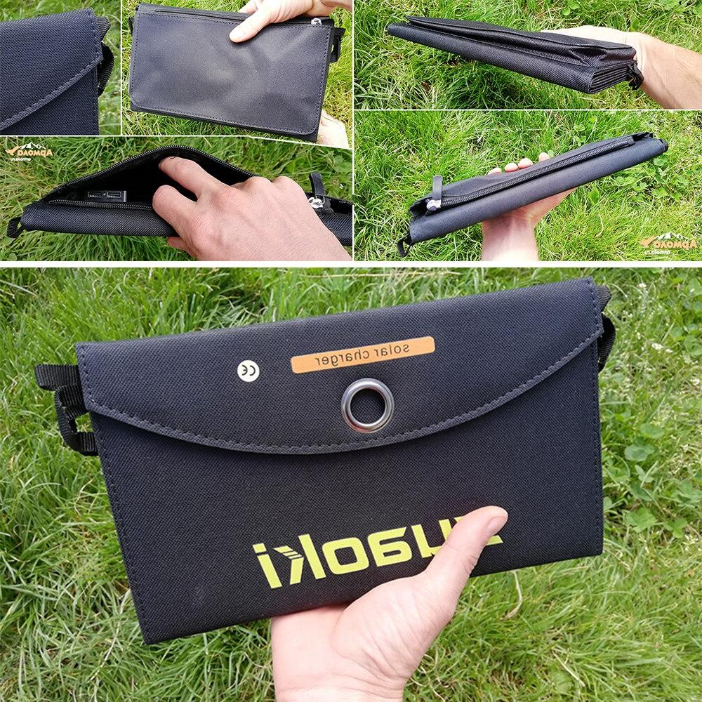 <font><b>Suaoki</b></font> <font><b>Solar</b></font> Portable Folding Foldable Dual USB <font><b>Solar</b></font> <font><b>Panel</b></font> Charger for