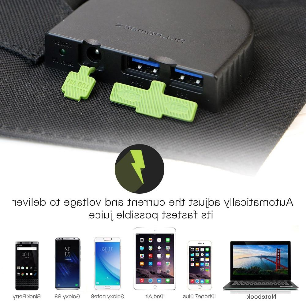 <font><b>ALLPOWERS</b></font> Portable <font><b>Solar</b></font> Charger 100W 18V Foldable <font><b>Solar</b></font> Battery Charger for Laptop