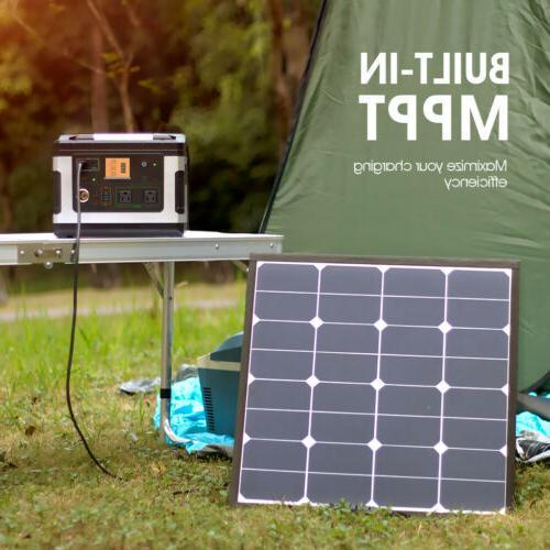Suaoki 500Wh Solar Power 600W Inverter Generator Supply