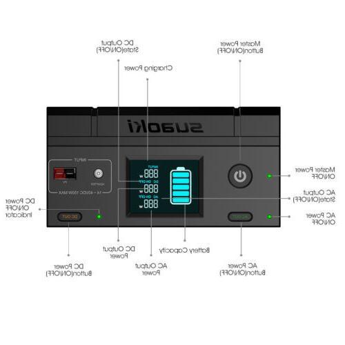 Portable 500Wh Supply Solar Energy Storage 600W