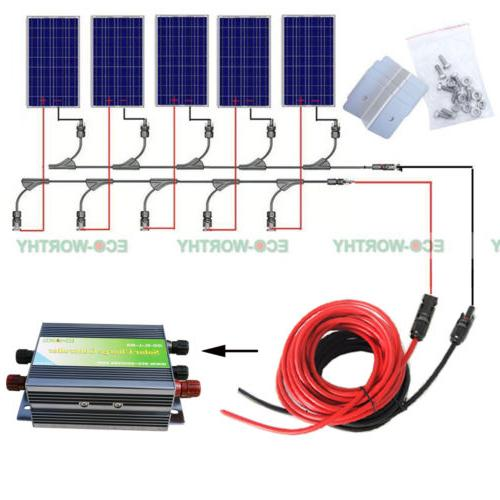 500W Off Grid Complete Kit: PV Solar Cell Solar RV Boat