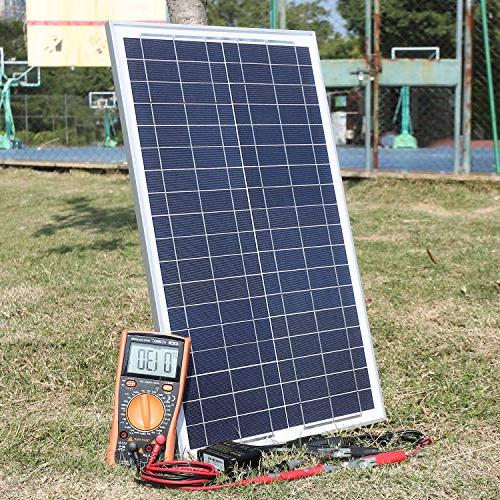 SUNER 30 12V Off Solar Panel Kit - Waterproof 30W Solar Photocell 10A Controller Time Setting Cable