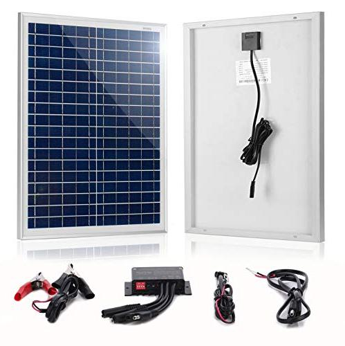 SUNER POWER 12V Off Grid Solar Panel 30W Photocell 10A Controller with Time Setting + Cable Kits