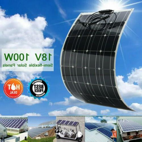 100 Watt Flexible Solar Panel RV Kit with 10A LED Controller