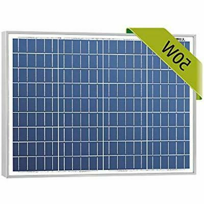 high efficiency 50w 12v poly solar panel