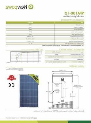 NewPowa High 100W Panel 200 Module W/ 3FT