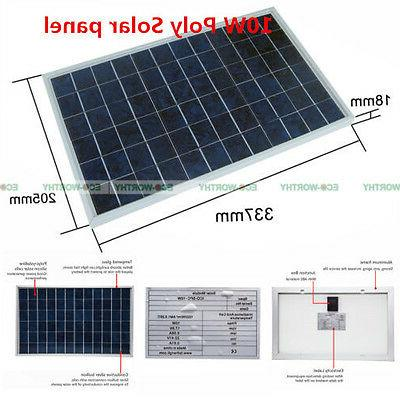 10W PV Solar Panel Module for Solar Battery Recharge