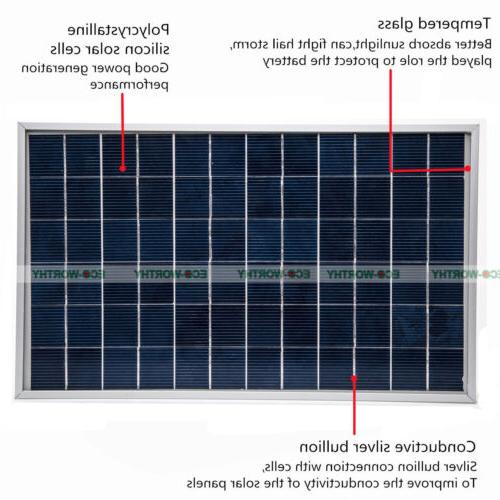 10W Watt PV Panel 12V Solar Home Battery