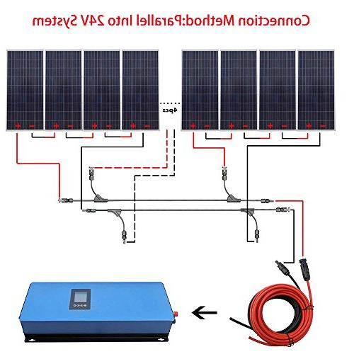 Grid Tie Solar Kit 12pcs & Inverter Charging