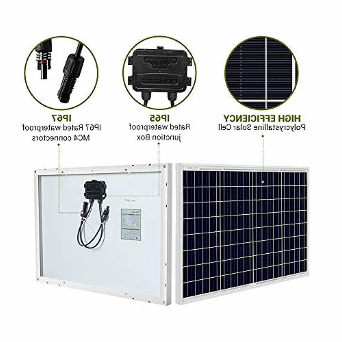 HQST Solar Panel Watt 12 Off Power RV Camping