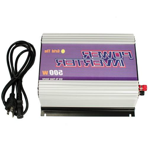 iMeshbean 500W MPPT Grid Tie Power Inverter DC 22V ~ 60V for